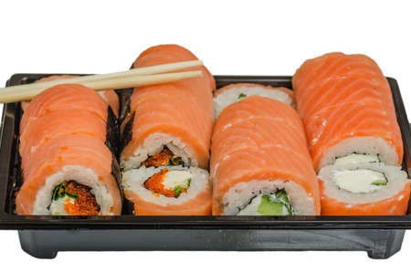 Sushi is a classic Japanese snack made from finely chopped fish fillets, usually raw, less smoked, vegetables, seafood, appropriately boiled rice, sometimes wrapped in algae noria