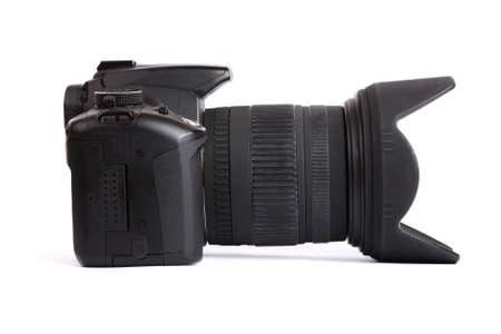 Digital SLR camera isolated on white