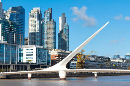 Harbor Puerto Madero Buenos Aires Argentine skyline and ships