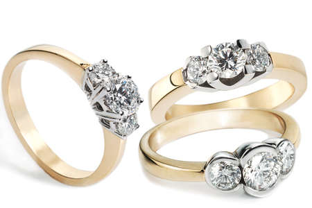 Collection of Diamond Rings in gold