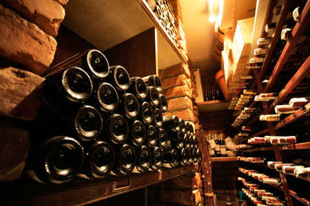 Wine cellar in small french restaraunt