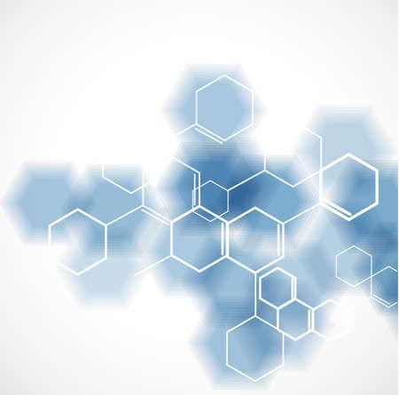Illustration pour chemical and molecular concept template background, Vector illustration - image libre de droit