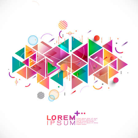 Photo pour Abstract colorful and mixed creative geometric template - image libre de droit