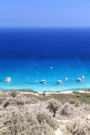 Blue lagoon in reserve Akamas. Cyprus