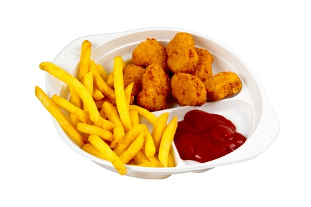 cick nuggets with french fries