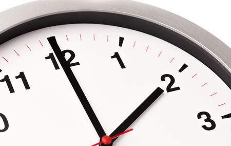 Photo pour white clock, close up view - image libre de droit