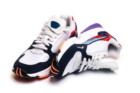 Foto de new sneakers isolated on white background - Image - Imagen libre de derechos