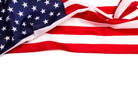 Photo pour american flag isolated on white background - Image - image libre de droit