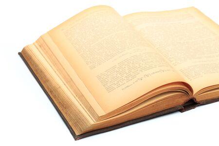 Foto de open vintage book isolated on a white background -Image - Imagen libre de derechos