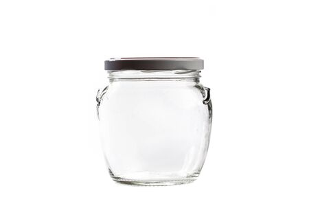 Photo pour empty glass jar for conservation, isolated on white background - image libre de droit