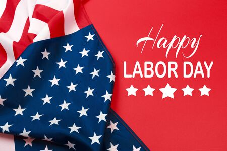 Photo pour Happy Labor day banner, american patriotic background - image libre de droit