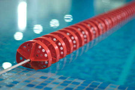 swimming pool with red line diagonal