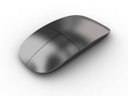Illustration of a computer mouse on a white background