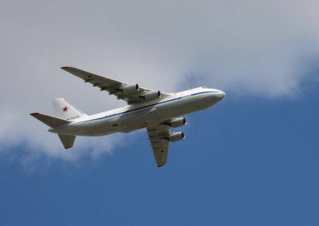 Long range heavy military transport aircraft An-124-100 Ruslan