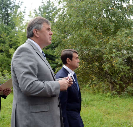 The ex-Governor of the Yaroslavl region, Deputy Minister of Natural Resources and Ecology of Russia Sergey Yastrebov and Russian presidential aide Igor Levitin.