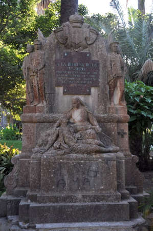Monument to Duchess de la Victoria, patronized by soldiers wounded in the Moroccan campaign