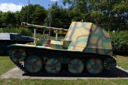 German self-propelled artillery Marder III Ausf.M on Poklonnaya hill in Moscow