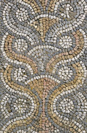 Roman mosaic floor tiling from the ancient site of Aphrodisias in Turkey