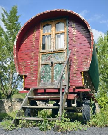 Traditional irish bowtop gypsy caravan