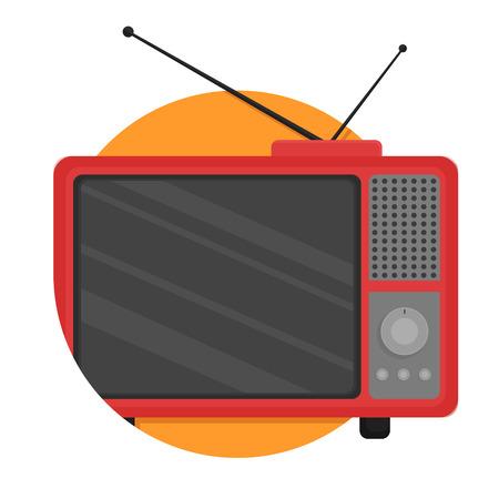 Illustration pour illustration of Retro Television icon isolated on white - image libre de droit
