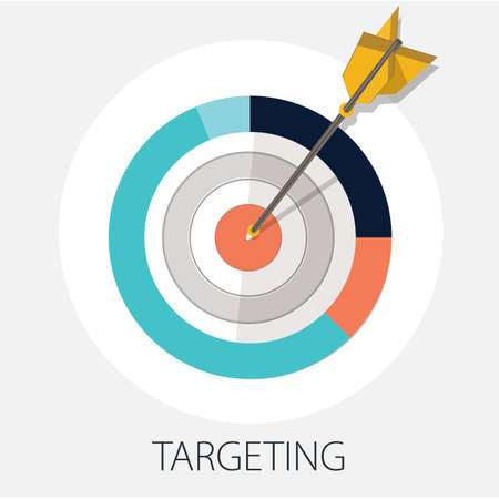Illustration pour Vector illustration of planing strategy & creative idea concept  goal & target  success and target concept - image libre de droit