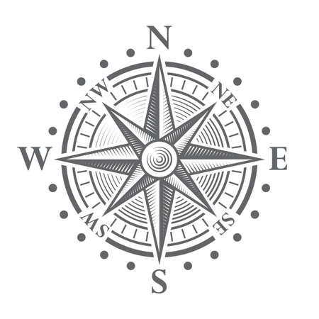 Illustration pour Illustration of a Vector hi quality Compass Rose. - image libre de droit