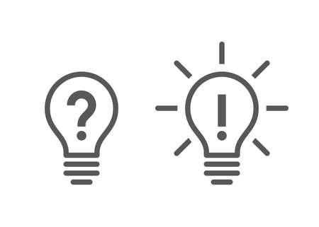 Illustration pour Problem and Solution Icons - image libre de droit