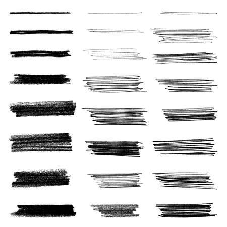 Illustration for Set of grungy vector brushes - Royalty Free Image