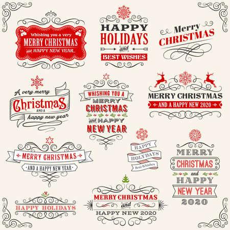 Ilustración de Christmas collection - Imagen libre de derechos
