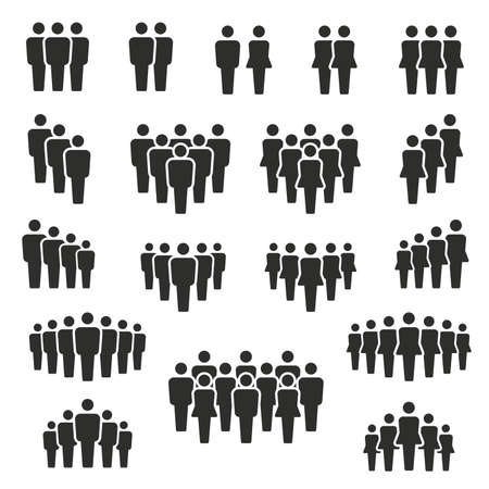 Illustration pour people and population icon set, vector and illustration - image libre de droit