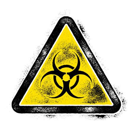 Illustration pour Sign symbol quarantine zone, area Stop Novel Coronavirus outbreak covid 19 2019 nCoV symptoms  , vector quarantine biohazard Sign biological activity threat alert - image libre de droit