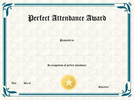 Photo pour Blank award certificate form - image libre de droit