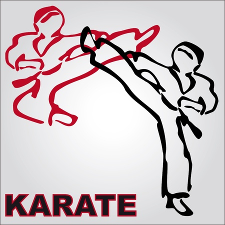 MARTIAL ARTS karate  ORIGINAL BACKGROUND VINTAGE TEXTURE