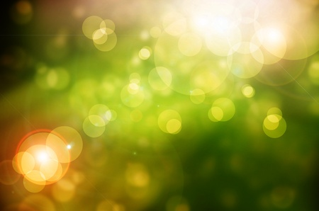 Beautiful green Bokeh