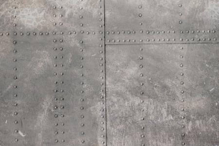 Photo pour riveted metal from aircraft - image libre de droit
