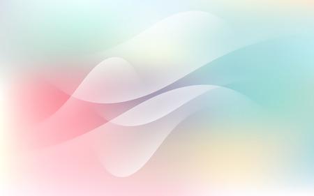 Soft Pastel Light Cloud Waves Sky Background Vector Illustration