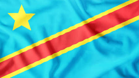 the democratic republic of the congo flag waving colorful