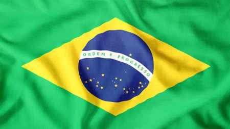 brazil flag waving colorful