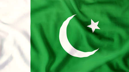 pakistan flag waving colorful