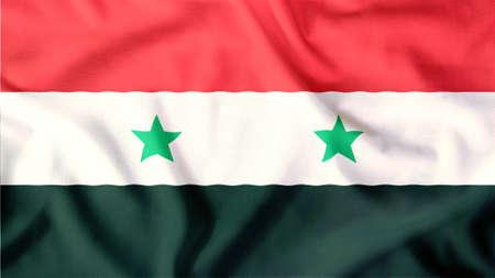 syria flag waving colorful