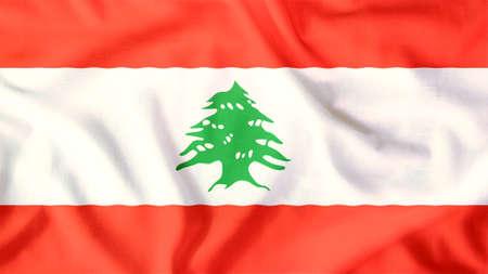 Lebanon flag waving colorful