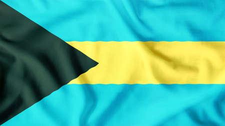 bahamas flag waving colorful