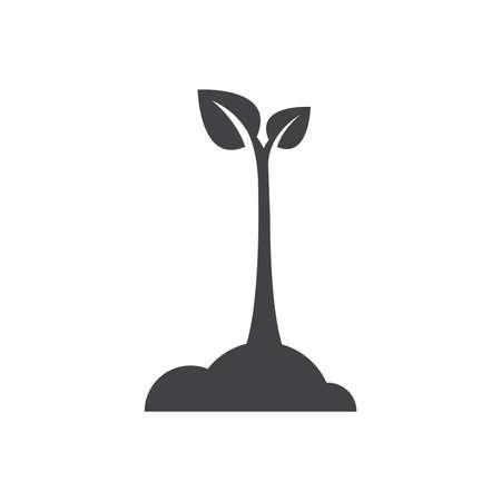 Illustration pour design sapling icon - image libre de droit