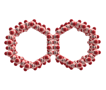 MCM-41 (Mobil Composition of Matter No 41) is a mesoporous material with a hierarchical structure from a family of silicate and alumosilicate solids that were first developed by researchers at Mobil Oil Corporation and that can be used as catalysts or cat