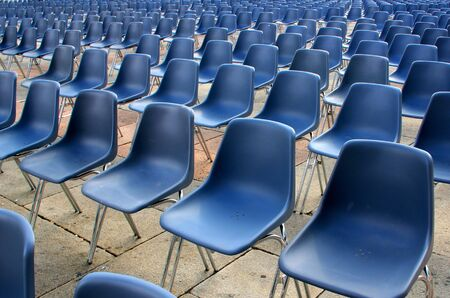 Foto per Empty seats in outdoor before a event - Immagine Royalty Free