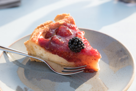 Photo for Creamy cake with berries - Royalty Free Image