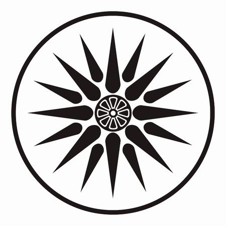 Vector symbol of king Philipos of Macedonia