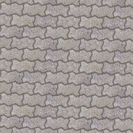 Photo for Concrete flooring block assembled on a substrate of sand - type of flooring permeable to rain water as required by the building laws. - Royalty Free Image