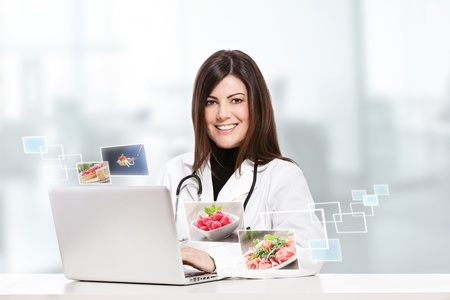 conceptual photo of a female nutritionist