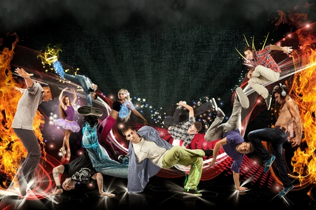 Photo manipulation of different dancers